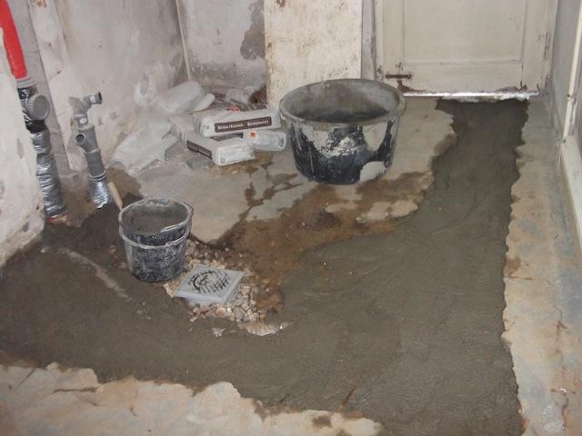 ein paar tage drainohrung handwerker umbau beton decke. Black Bedroom Furniture Sets. Home Design Ideas
