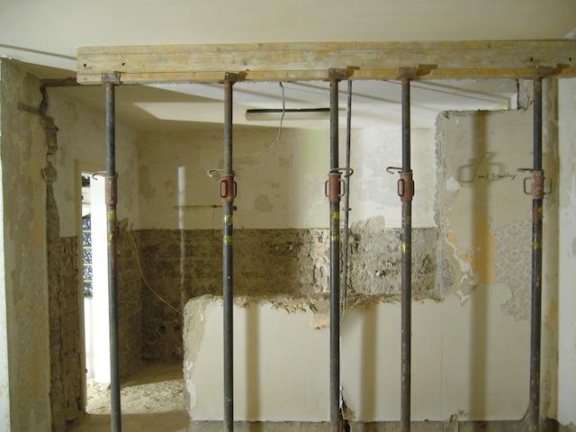die mauer muss weg pling handwerker umbau stahltr ger statik trophy wanddurchbruch das. Black Bedroom Furniture Sets. Home Design Ideas