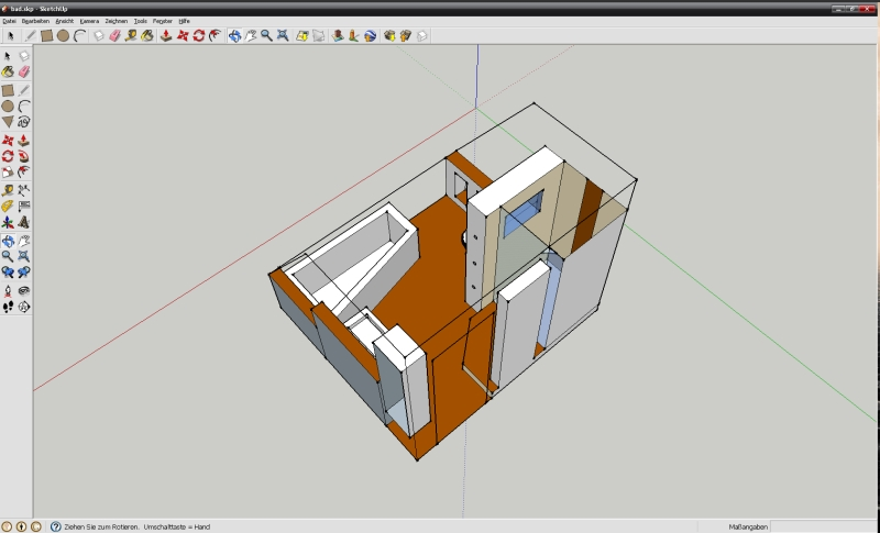 Bad Verputzen Dusche : ... - Bad Google Sketchup Skizze Video ...