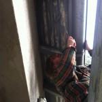 Vordach streichen
