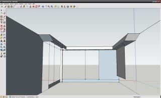 Wohnzimmerdecke mit Sketchup geplant